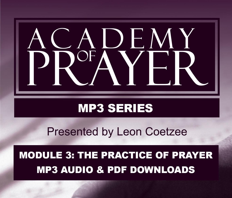 Academy of Prayer Module 3 Correspondence Set